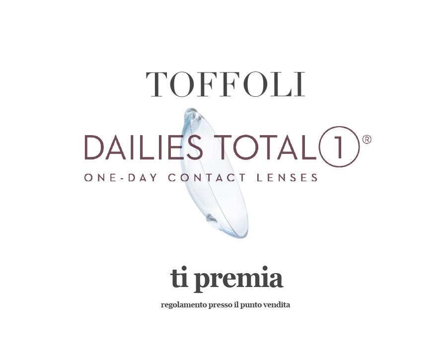 c029124a0d9f59 Toffoli promozione di Dailies Total 1  se acquisti 4 confezioni da 30 lenti  a contatto Dailies Total 1 o se acquisti 4 confezioni da 90 lenti a  contatto ...
